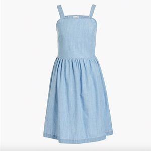 Chambray apron dress